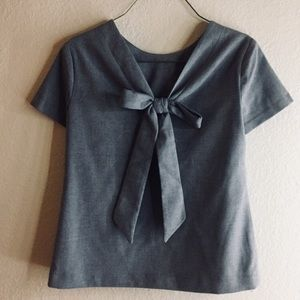 Banana Republic Bow Back Short Sleeve Top